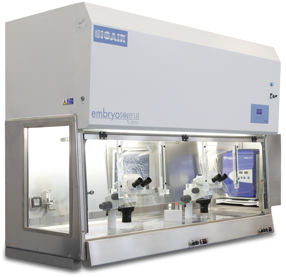 Bioair EmbryoS@fe iREF - Laminar flow cabinet with operator & environment protection for IVF